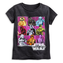 Disney Store Star Wars The Force Awakens Cast Tee T-Shirt for Girls - $15.00