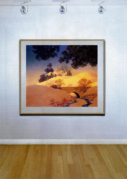Sunlight 22x30 Maxfield Parrish Art Deco Print Hand Numbered Ltd. Edition