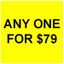 TUESDAY PICK ANY 1 FOR $79 DEAL BEST OFFERS DISCOUNT MAGICK  - $79.00