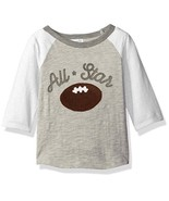 NWT Mud Pie Football All Star Applique Boys Gray Raglan Sleeve Shirt 2T/... - $14.99