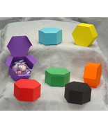 24 Small Hexagon Boxes Favor Box Birthday Paper - $4.49