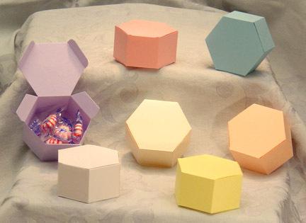 24 Small Hexagon Boxes Favor Box Birthday Paper