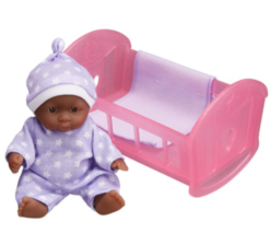 My Sweet Love Lots to Love Babies Playset African American Pink Crib - $14.42
