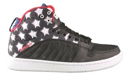 Supra Stevie Williams S1W Badge Shoes Stars & Stripes Black Navy White Sneakers image 2