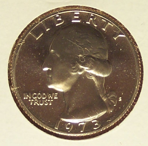 1973-S DCAM Proof Washington Quarter PF65 #582 image 3