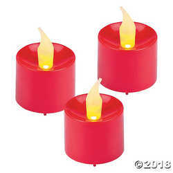 Fun Express Red Battery-Operated Votive Candles 1 Dozen