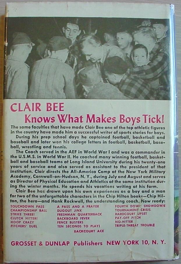Chip Hilton sports story #1 TOUCHDOWN PASS Clair Bee HCDJ G&D