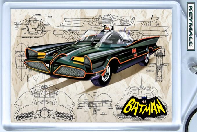 KEYTAG 66 BATMOBILE BATMAN & ROBIN G BARRIS KEY CHAIN ! Bonanza