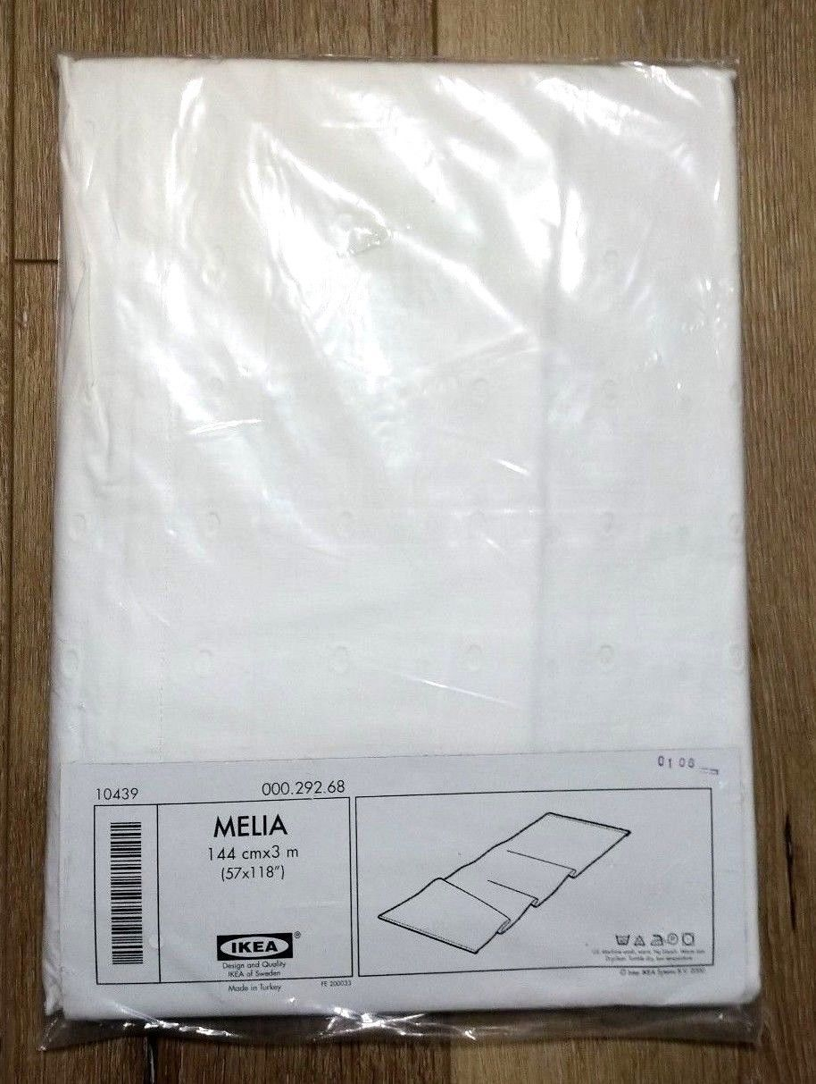 """IKEA Melia White Eyelet Curtain Panel Divider 57""""x118"""" Discontinued New - $29.69"""