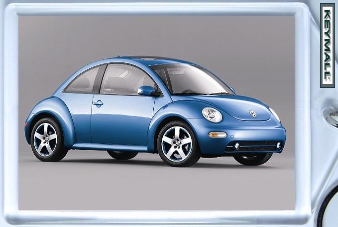 KEYTAG BLUE VW NEW BUG BEETLE VOLKSWAGEN KEY CHAIN RING Bonanza