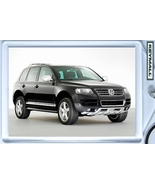 KEYTAG BLACK VW TOUAREG SUV 4X4 KEY CHAIN RING FOB TAG - $9.95