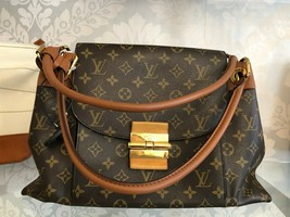 "LOUIS VUITTON ""Olympe MM"" Monogram Canvas & Leather Shoulder Bag w/Buckle $3400 image 1"