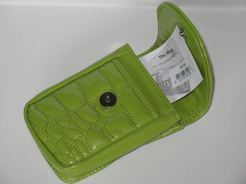 Puff Mini Purse Case New Green Wristlet Bag Neon Lime Color by Kristine image 3