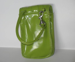 Puff Mini Purse Case New Green Wristlet Bag Neon Lime Color by Kristine image 2