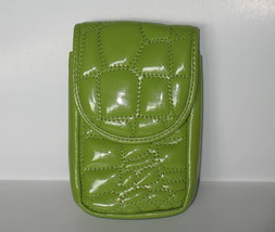 Puff Mini Purse Case New Green Wristlet Bag Neon Lime Color by Kristine - $10.69