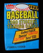 1987 Fleer MLB Baseball Cards Wax Pack New Sealed Authentic Made in the USA image 1
