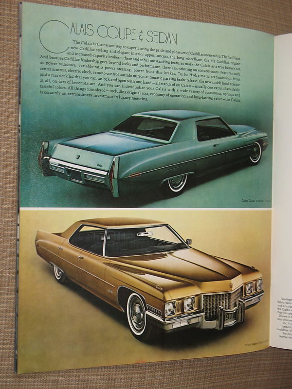 Cadillac 1971 Dealer Brochure Color Sales Book Vintage Automobile Collectible