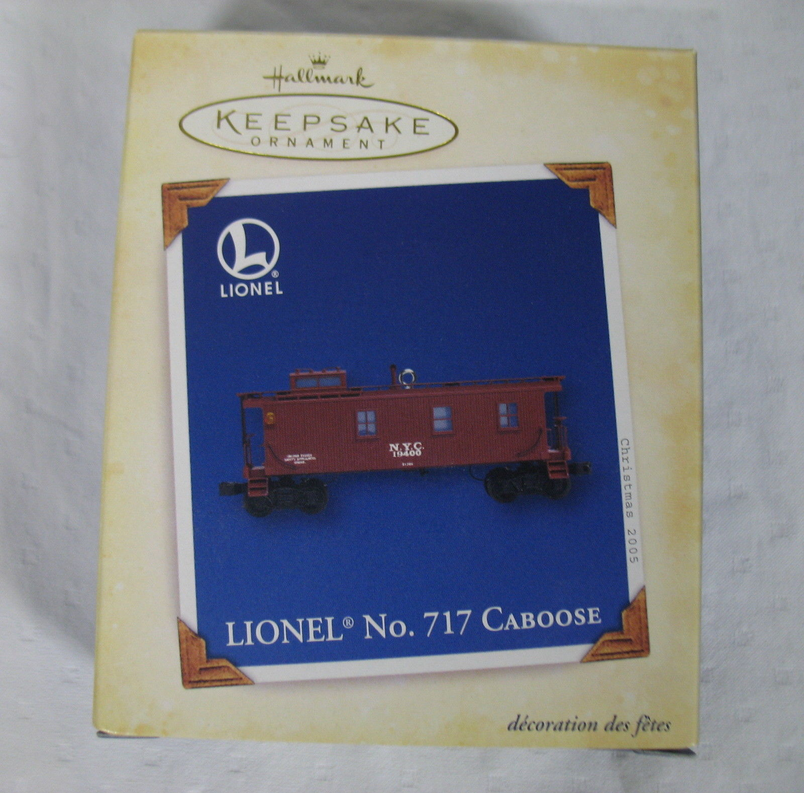 Hallmark Ornament Lionel No. 717 Caboose Mint 2005 New in Box Keepsake Metal