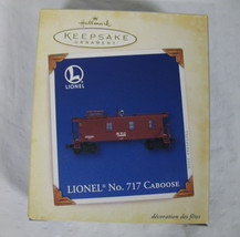 Hallmark Ornament Lionel No. 717 Caboose Mint 2005 New in Box Keepsake Metal image 1