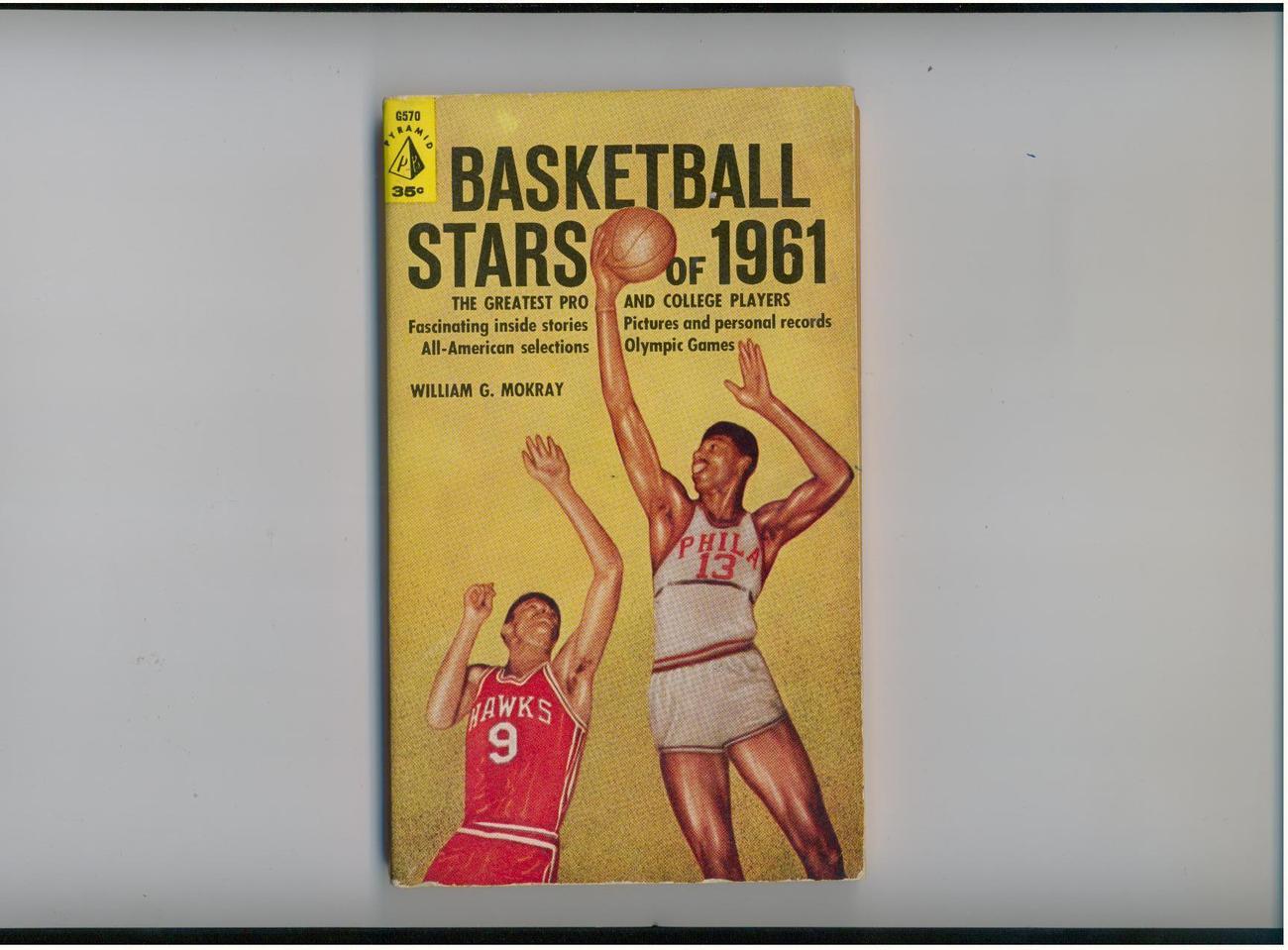 BASKETBALL STARS OF 1961 - pro/college  - SCARCE 1st