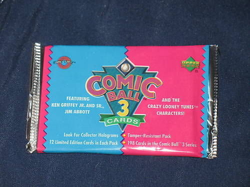 Upper Deck New 1992 Comic Ball 3 Looney Tunes MLB 1 Pack Sealed Authentic