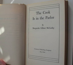 The Cook is in the Parlor 1947 Cookbook Marguerite Gilbert McCarthy Hardcover image 2
