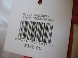 Cynthia Rowley New Purse Handbag Leather Crossbody Calloway Orange Coral White image 3