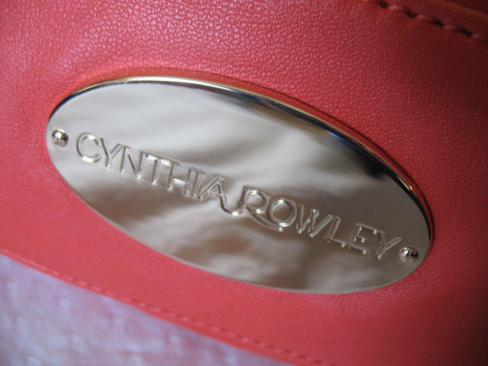 Cynthia Rowley New Purse Handbag Leather Crossbody Calloway Orange Coral White image 4