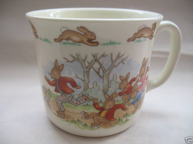 Royal Doulton China Bunnykins Hug A Mug Albion Pattern Coffee Beverage Cup