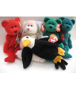 Ty Beanie Babies Osito May Erin Wallace Baldy Lot of 5 Attic Treasures H... - $12.12