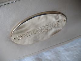 Cynthia Rowley Purse New Handbag Calloway Gray White Crossbody Leather Ash Color image 3