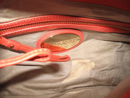 Cynthia Rowley New Purse Handbag Leather Crossbody Calloway Orange Coral White image 6