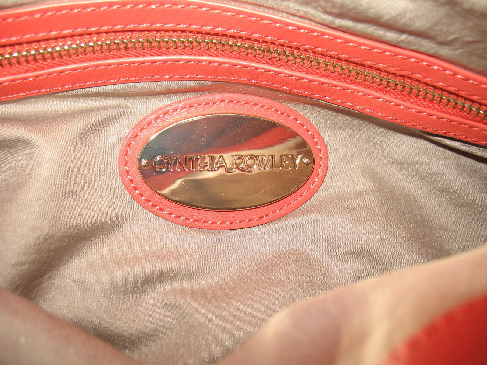 Cynthia Rowley New Purse Handbag Leather Crossbody Calloway Orange Coral White image 5
