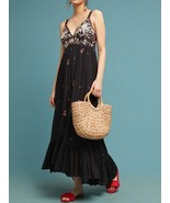 Anthropologie Fiona Embroidered Maxi Dress by Ranna Gill $228 Sz SP - NWT - $151.46