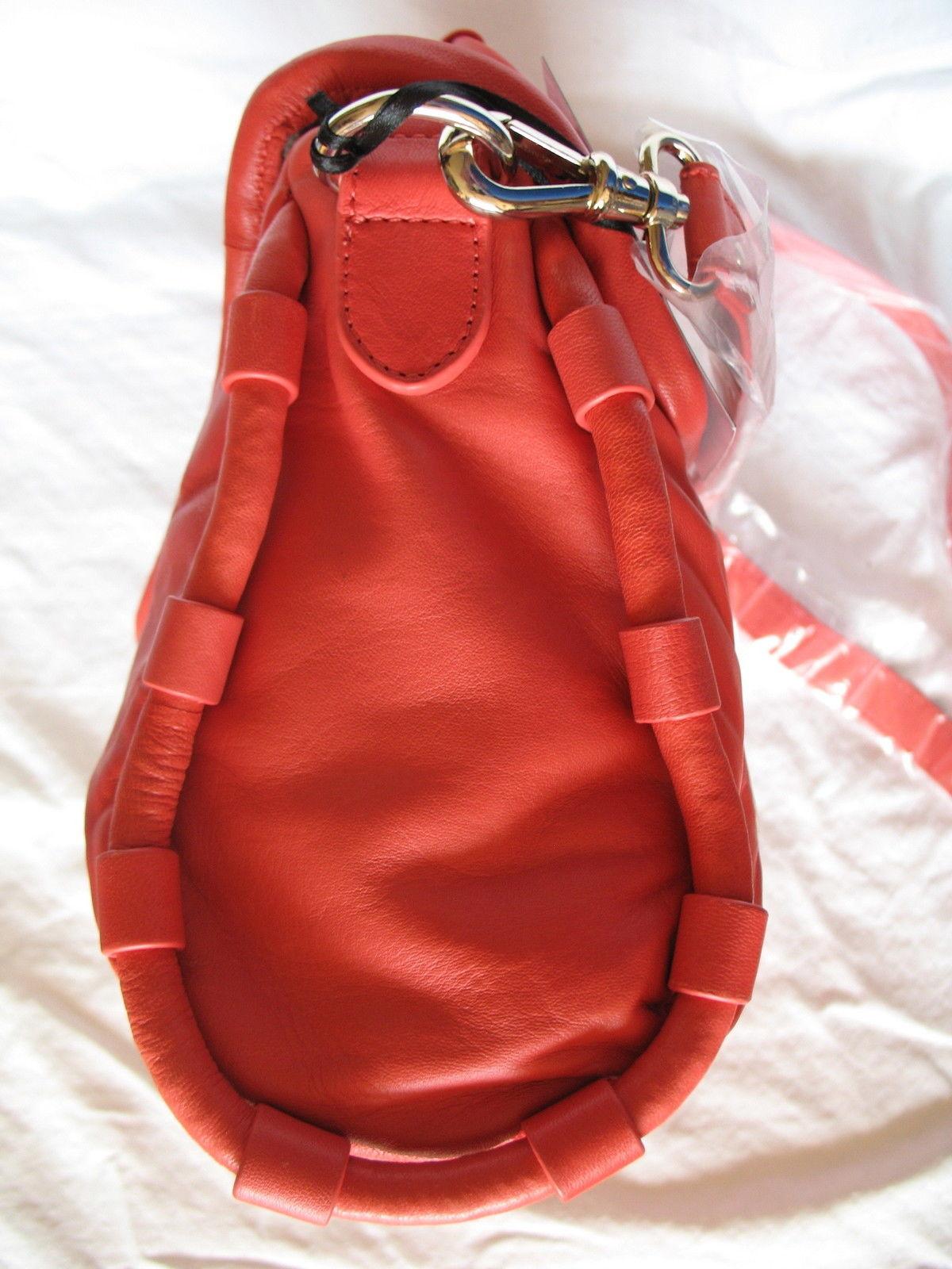 Cynthia Rowley New Purse Handbag Leather Crossbody Calloway Orange Coral White image 9