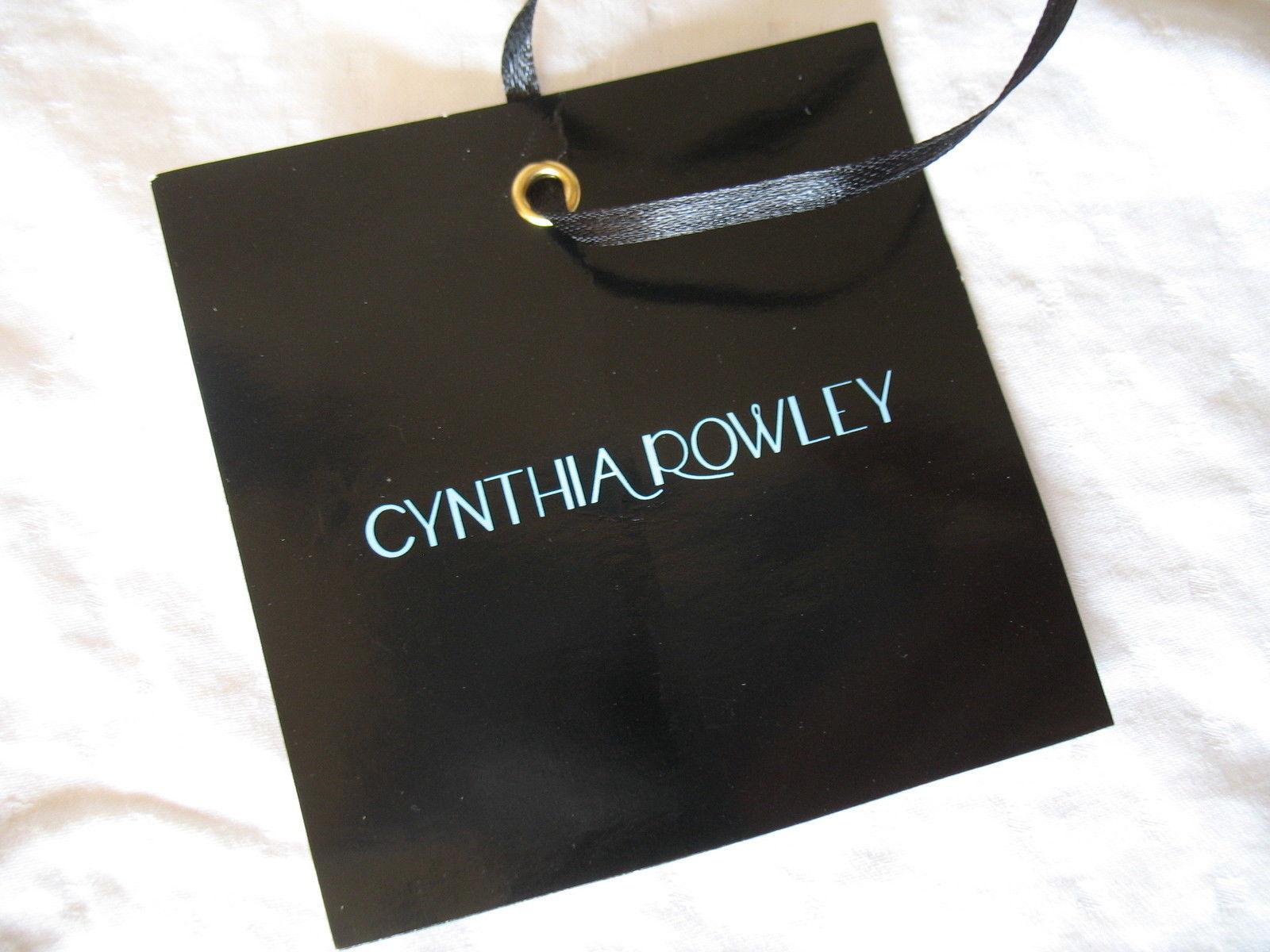 Cynthia Rowley Purse New Handbag Calloway Gray White Crossbody Leather Ash Color image 7