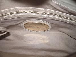 Cynthia Rowley Purse New Handbag Calloway Gray White Crossbody Leather Ash Color image 6