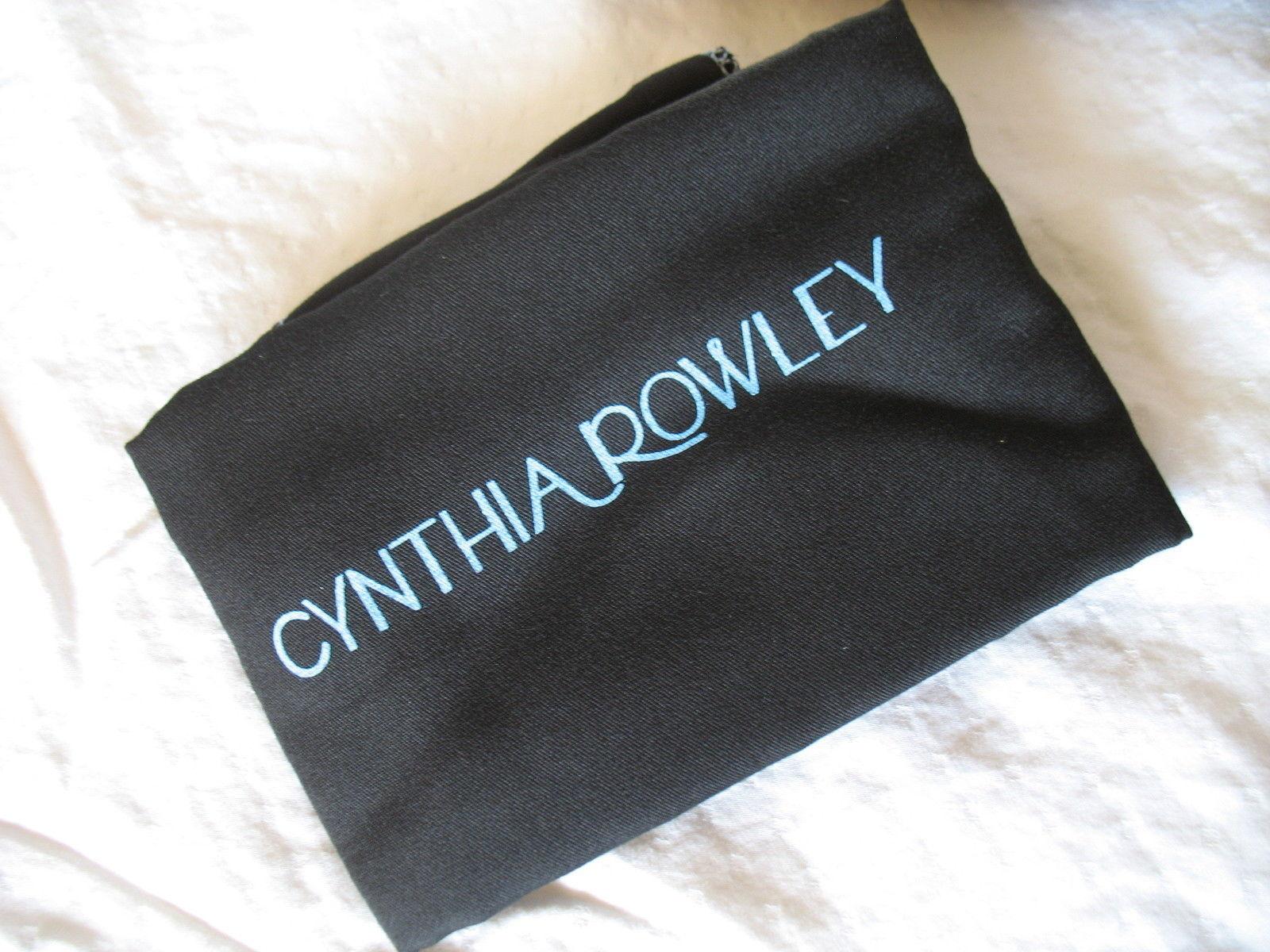 Cynthia Rowley Purse New Handbag Calloway Gray White Crossbody Leather Ash Color image 8