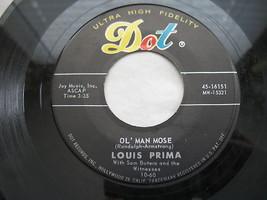 Louis Prima 45 RPM Dot Record Wonderland By Night Hi Fi #16151 Ol Man Mose image 3