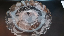 """Mikasa Large Embossed Clear and Frosted Serving Platter - 13"""" - $15.00"""