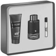 Mont Blanc Montblanc Explorer Cologne 3.4 Oz Eau De Parfum Spray 3 Pcs Gift Set image 1