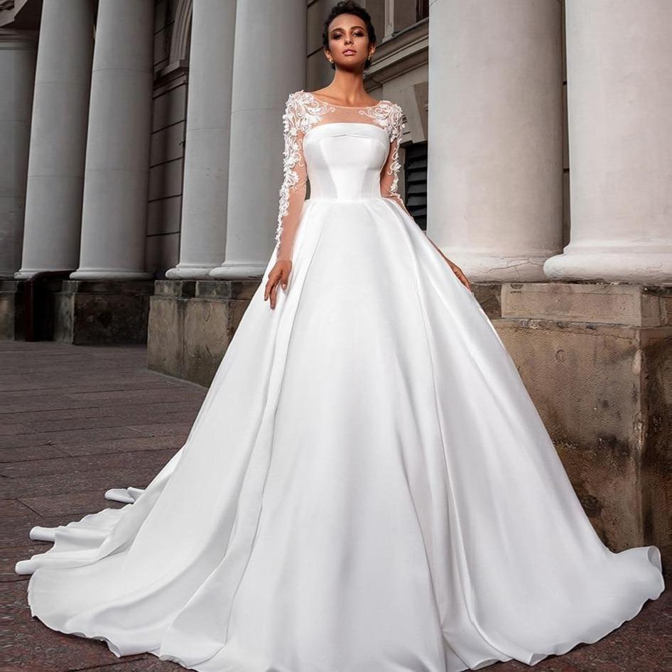 Nto long sleeve appliques flowers simple bride 1024x1024 2x cf688d48 0c60 49a8 8241 bd7ef4ea09d6