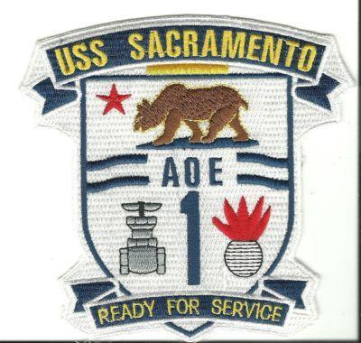 Primary image for US Navy USS Sacramento AOE 1 Ready for Service Patch