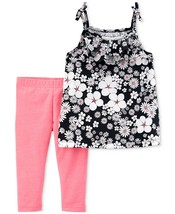 Carter's Baby Girls' 2-Piece Top & Leggings Set Outfit Playwear Floral Pink - $18.99