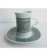 Rare & Vintage Sango Rubaiyat Quadrille 7015 Tea Cup & Saucer Set Made I... - $42.06