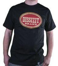 Dissizit! Mens Blunted English D x Bones Blunt Smoking Black T-Shirt Slick LA image 3