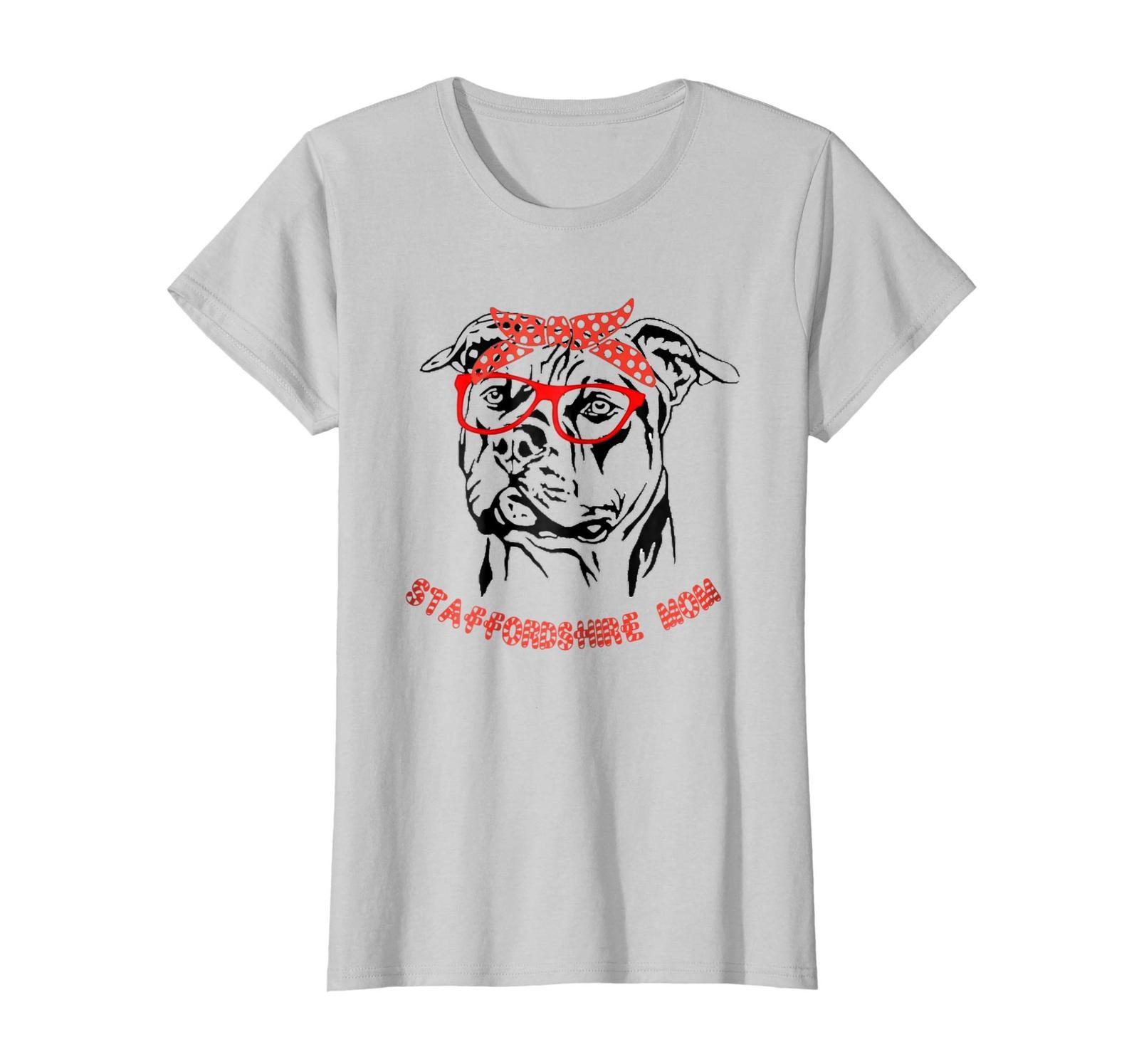 Dog Fashion - American Staffordshire America Shirt - Funny dog mom shirt Wowen