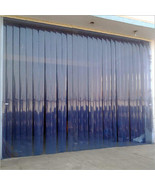 "Strip Curtain Garage Door size 10' x 7' PVC Vinyl Cooler Freezer 8"" Walk... - $188.05"