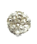 Andreas Daub Germany 800 Coin Silver Figural Flower Bloom Brooch Pin - $39.59