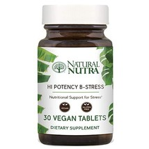 Hi Potency B Stress Complex by Natural Nutra with Vitamin C, Passion Flo... - $20.97
